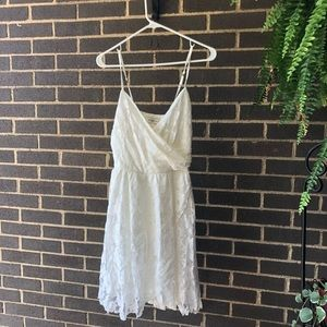 White Lacey Abercrombie Dress!